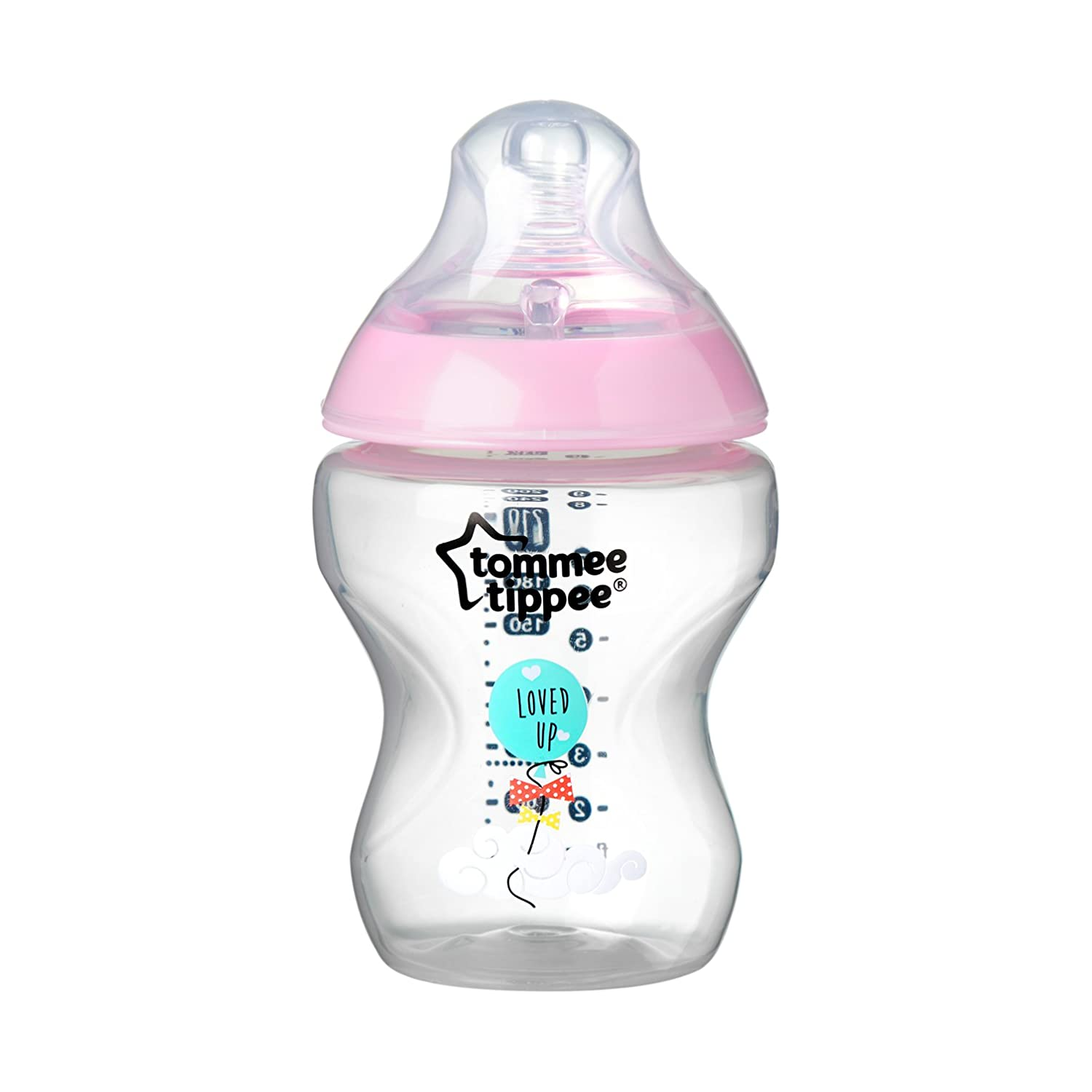 Careful Tommee Tippee Closer To Nature Pack Of 2 Anti Colic 150ml Baby Bottles Feeding