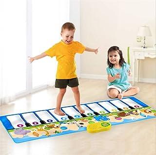YUE QI Animali Infantili 10-Chiave Giocattolo Piano Mat Piede Musica Tastiera Musica strisciante Gioco stuoia Bambini Regalo 135 * 45 cm