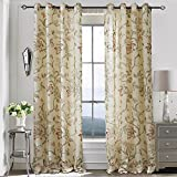 Living Room Curtains Red/Pink Flower Drapes – Anady Top 2 Panel Decro Curtains Country Lined Drapes Grommet 100 inch Extra Wide Review