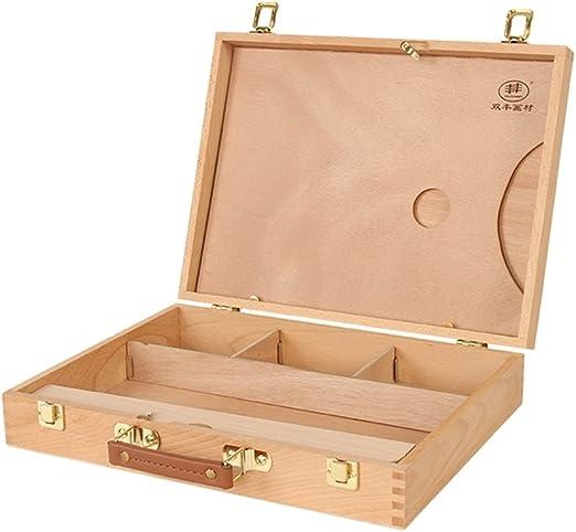 DELLT- Haya caja de pintura al óleo portátil caja de boceto ...