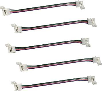 für LED Streifen SMD 5050 RGB 5x Anschlusskabel Verbindungskabel