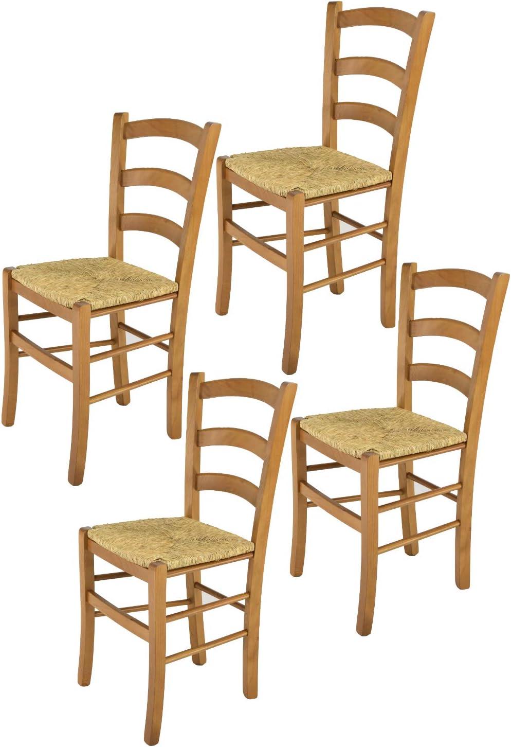 Tommychairs - Set 4 chaises Venice pour Cuisine