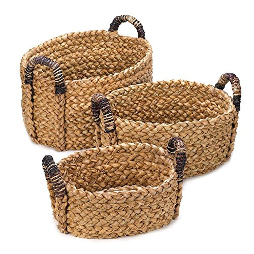 Set of 3 Rustic Woven Nesting Baskets