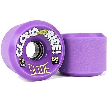 Longboard wheels (set 4). Ruedas Cloud Ride Wheels Slide Purple 86a / 70 MM: Amazon.es: Deportes y aire libre