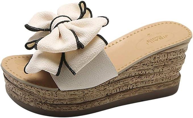 VICGREY Scarpe da Donna Comode con Plateau e Sandali da Viaggio per Spiaggia e Estate Infradito Donna Eleganti Slip On Ciabatte Donne Pantofole Aperto