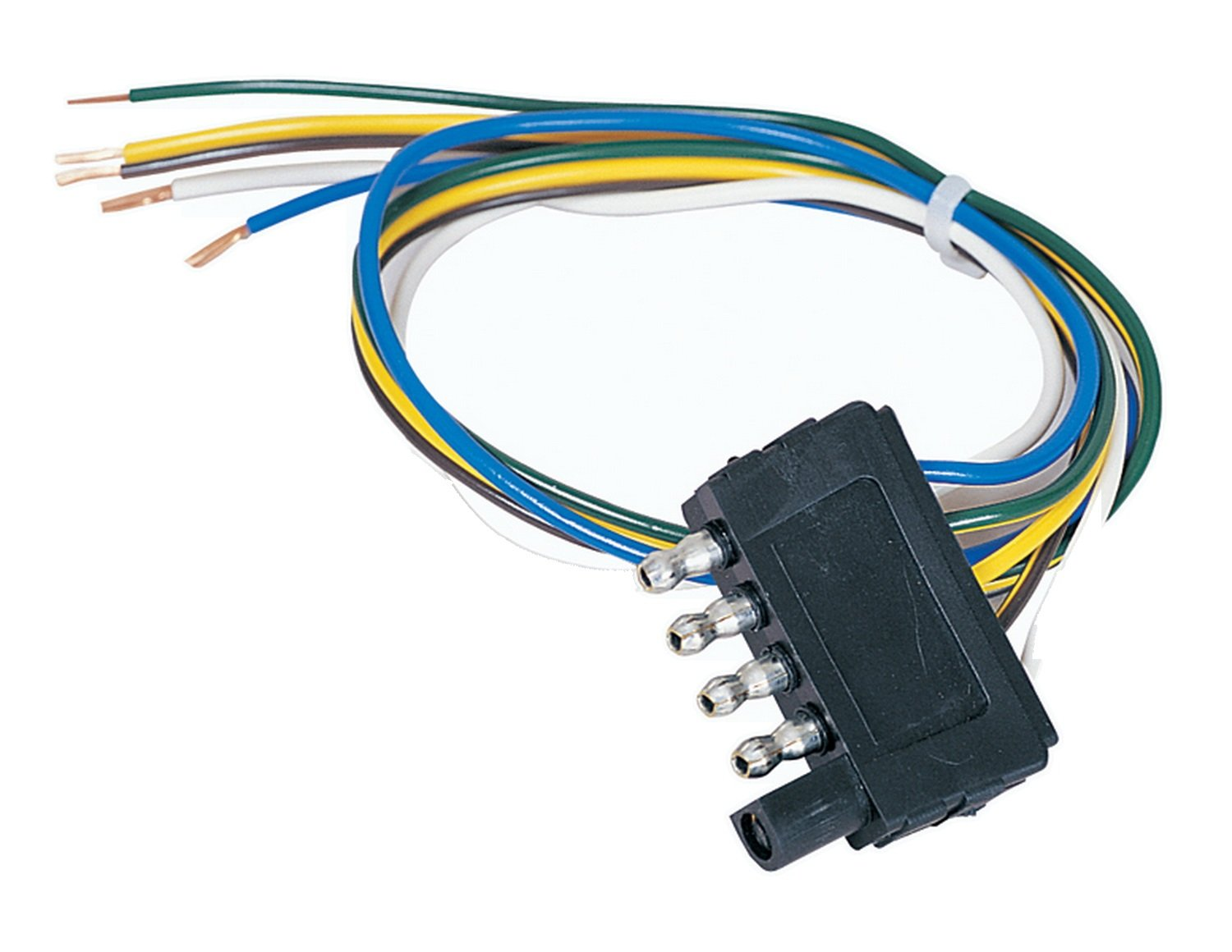 Hopkins 47915 18 5 Wire Flat Trailer Connector Automotive Also Winch Solenoid Wiring On 4 Tail Light