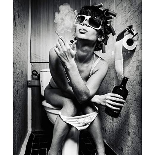 tzxdbh Moda Aseo Mujer Impresiones en Lienzo Moderno Bar ...