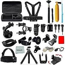 Tomcrazy Accessories Kit Sets for Hero6 Black Hero5 Hero 5 4 3+ 3 2 1 Digital Sports Action Camera Accessory Set AKASO EK5000 EK7000 SJCAM SJ4000 SJ6000 SJ5000 Xiaomi YI iPhone X 8 Plus 7 6 5 4