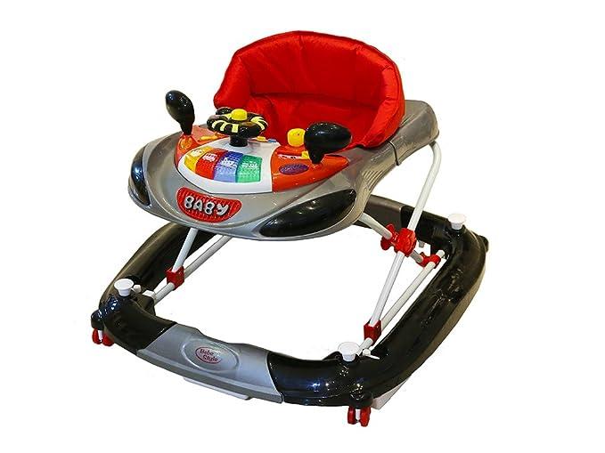 Bebe Style - Andador y balancín con diseño de coche de F1 gris gris
