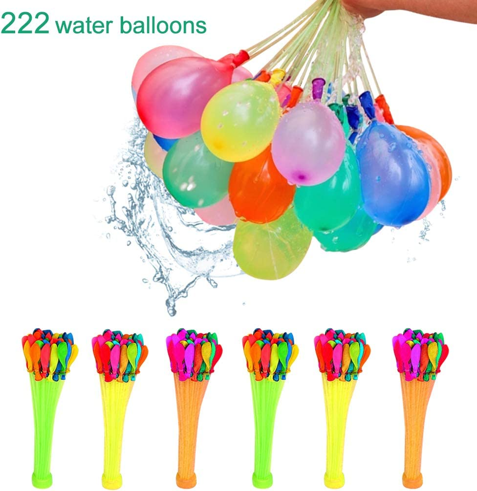 Water Balloons 222 Balloons Fight Games Sports Summer Splash Fun for Kids /& Adults Party Game Quick Fill Latex Water Bomb Game