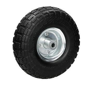 ECD Germany Rueda para carretilla PU color negro 4.10/3.50-4 Neumático de repuesto para carretilla con Rodamiento de bolas: Amazon.es: Bricolaje y ...