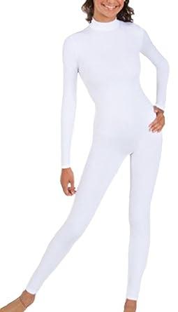 BlackSunnyDay Women s Black or White Full Spandex Bodysuit Catsuit (S 8f29a7ce9