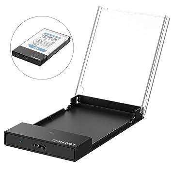 ZOMY - Carcasa para Disco Duro Externo USB 3.0 DE 2,5 Pulgadas, para Disco Duro SATA HDD SSD DE 2,5 Pulgadas, 9,5 mm y 7 mm (Slim & Light) con UASP