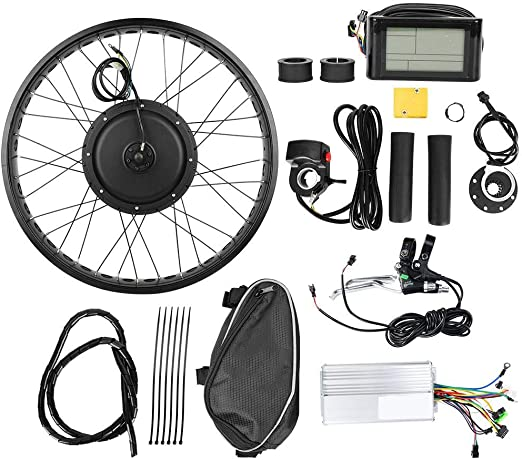 Kit de Conversión de Bicicleta Eléctrica, Rueda de 26x4 Pulgadas ...
