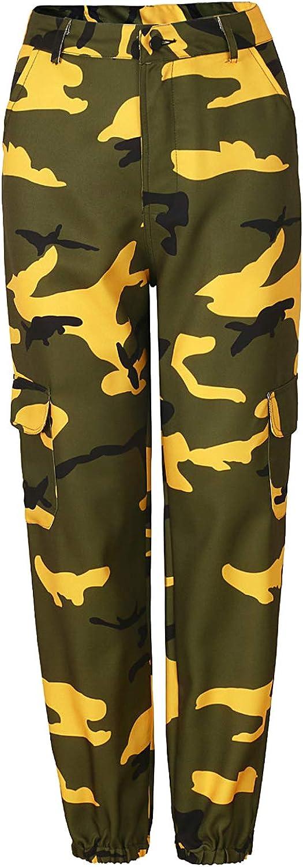 Landove Pantalon Militar Mujer Camuflaje Hip Hop Danza Cargo Pants ...