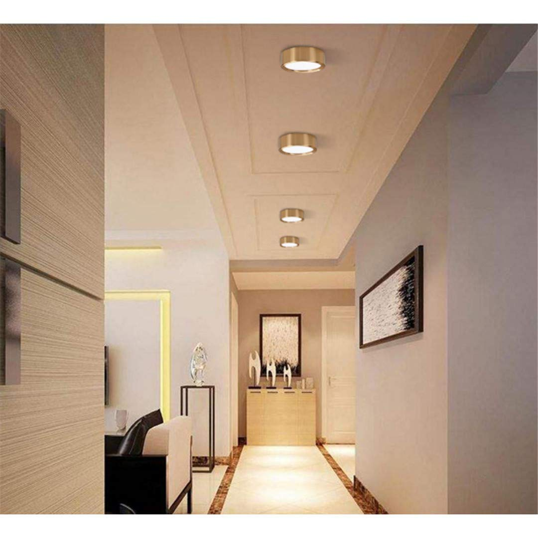 Gorkuor Leuchter LED Deckenleuchte Lampe Lampe Lampe Oberflächenmontage Wohnzimmer Schlafzimmer Badezimmer Dekoration Küche by (Farbe   Golden1, Größe   7W) 0c2aa3