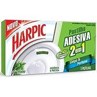 Desodorizador Sanitário Harpic Pastilha Adesiva Pinho 2 em 1