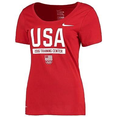 Gris Usa D'entraînement Shirt Femme Team Performance T Pour Nike SaqWFn6w