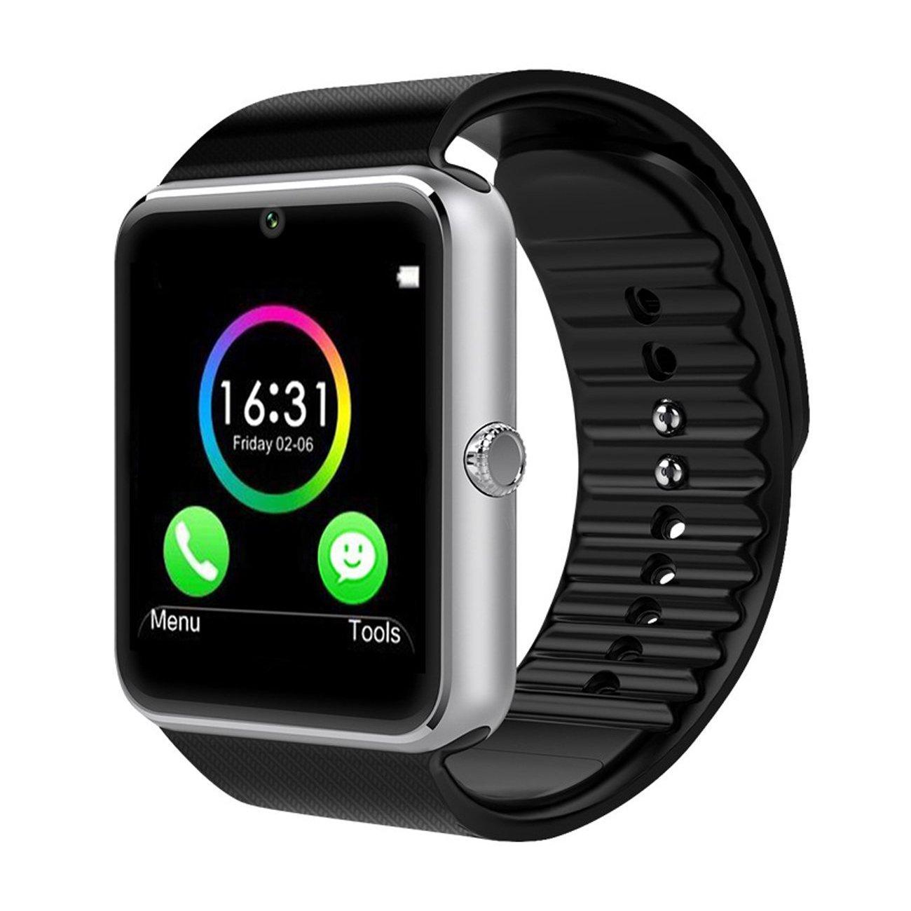 CHEREEKI Bluetooth Smart Watch con cámara soporta tarjeta SIM TF...