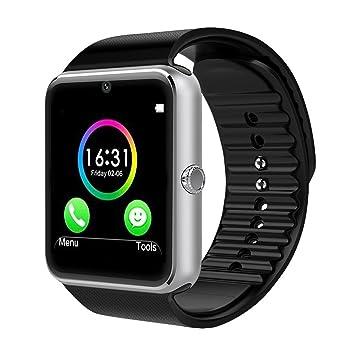 CHEREEKI Bluetooth Smart Watch con cámara soporta tarjeta SIM TF tarjeta de pulsera teléfono reloj pantalla táctil Smartwatch podómetro pulsera para ...
