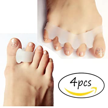 Gel Yoga Toes,Toe Spacers Toe Straightener Overlapping Toes Relieve Bunion Pain for Sports Activities,...