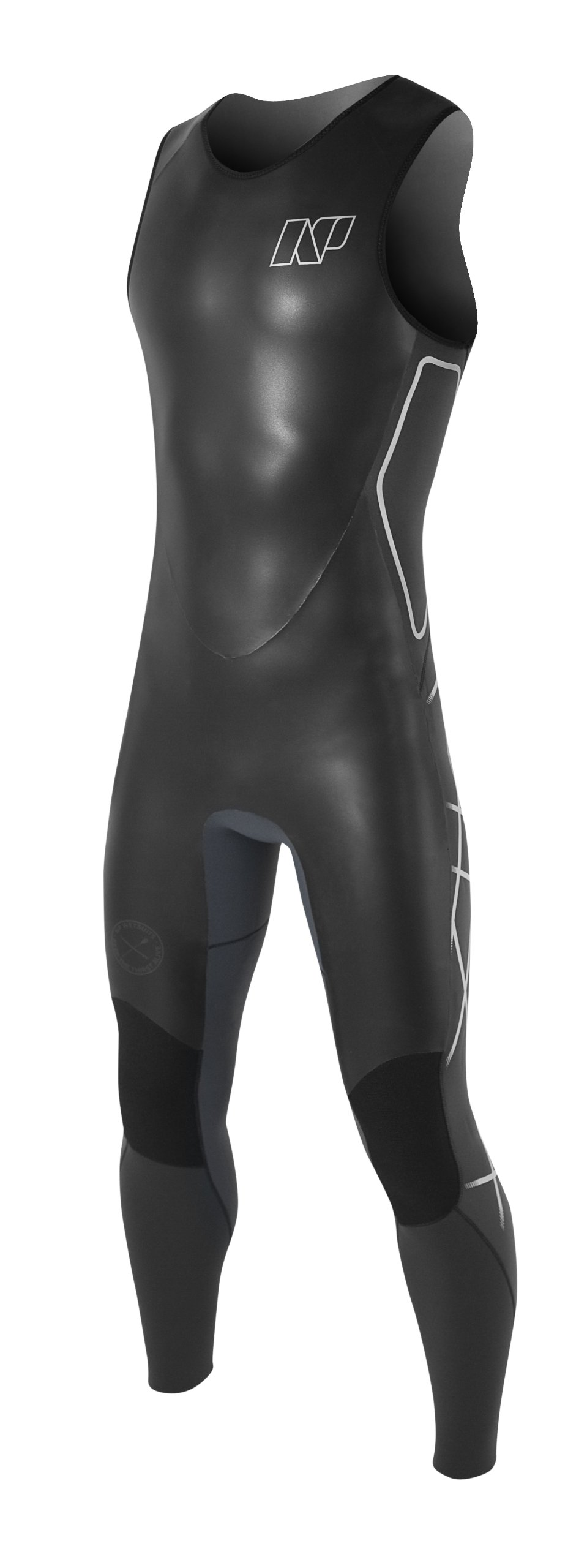 NP Surf SUP 3/3mm Long John Wetsuit, Black, X-Large by NP Surf