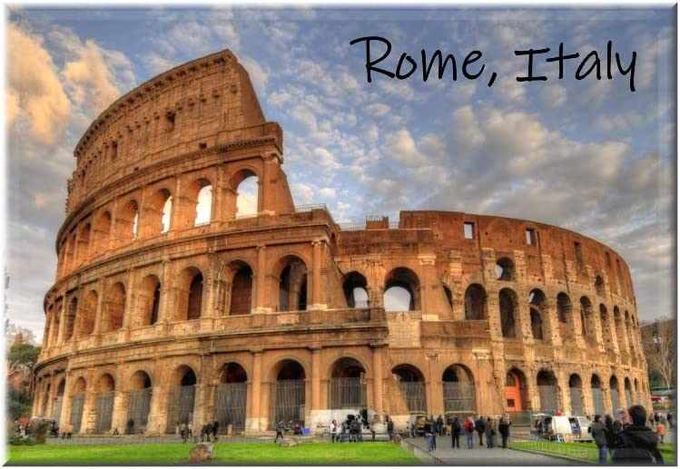 Rome Coliseum Italy Magnet 2x3 Inches
