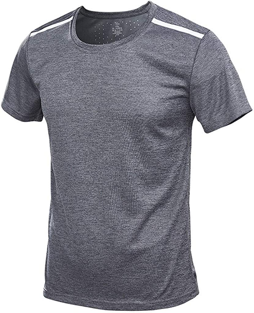 Instant-Dry T Shirts for Men Breathable Muscle Tee Shirt Short Sleeve Sport Shirt Summer Sweatshirt Masculinous Gifts