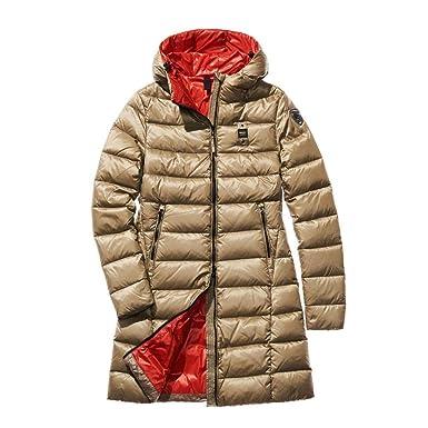 Blauer USA - Abrigo - para mujer 652rc Verde Lichene Int. Rosso Carmino L: Amazon.es: Ropa y accesorios
