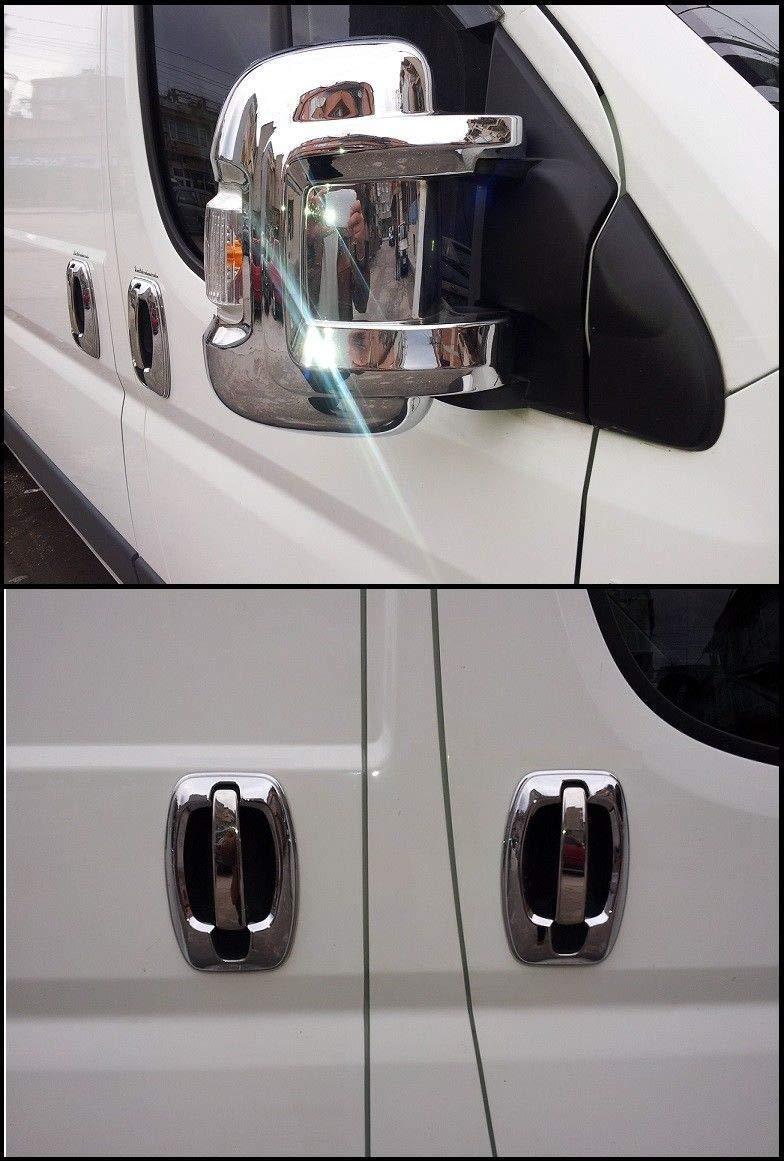 Juego de 2 cubiertas para espejos Boxer//Jumper//Ducato acero inoxidable, cromado, 4 puertas