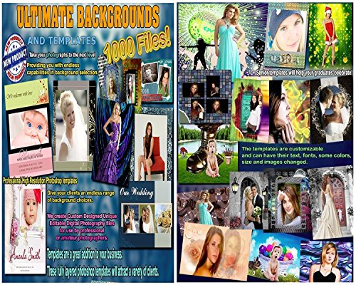 ULTIMATE Digital Backdrops BACKGROUNDS Chroma Key Muslin Photo PSD Templates (Green Screen Photo Software)