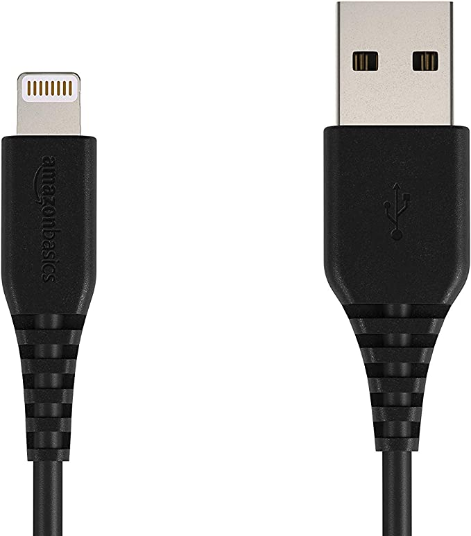 Amazon.com: AmazonBasics Cable Lightning a USB A, 6 pies ...