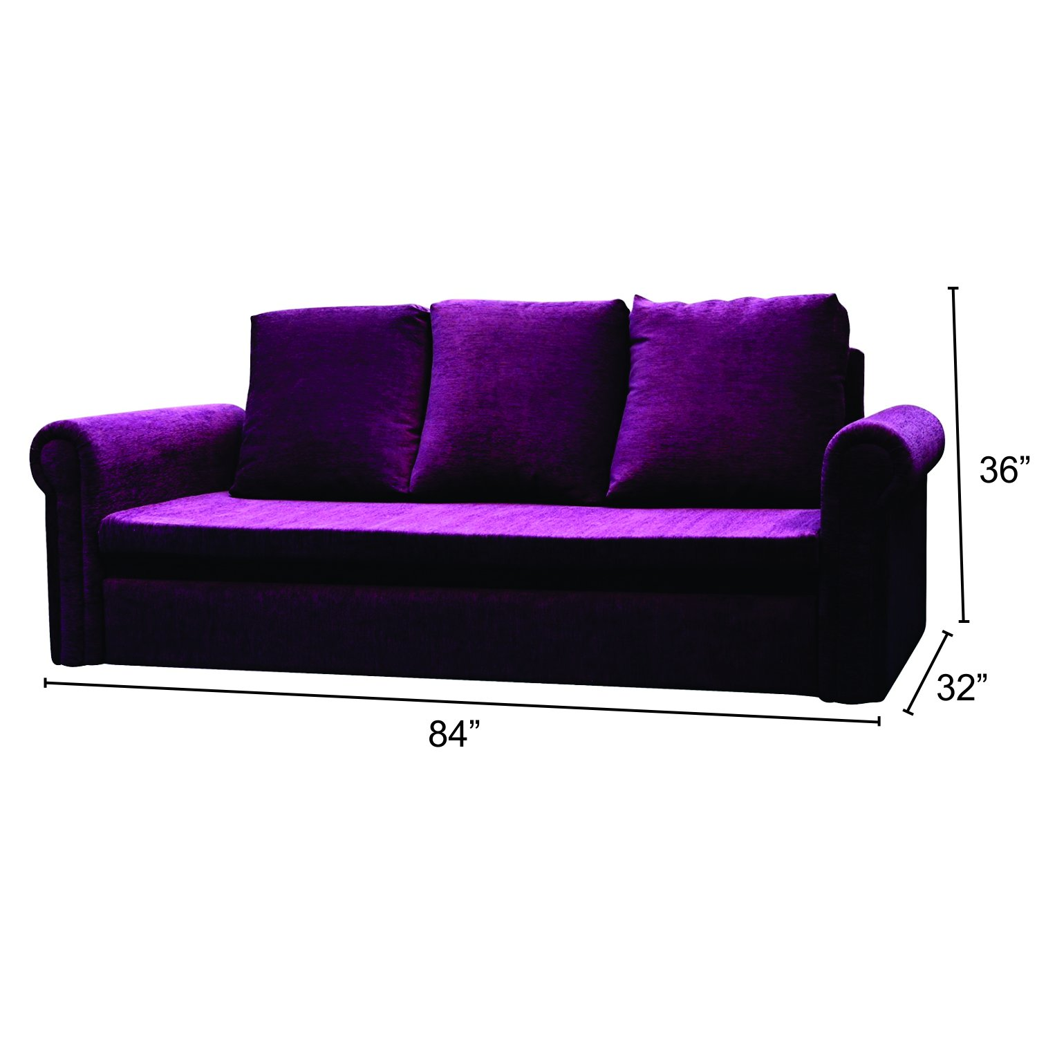 Mubell Three Seater Sofa Cum Bed Wood Black Amazon Home