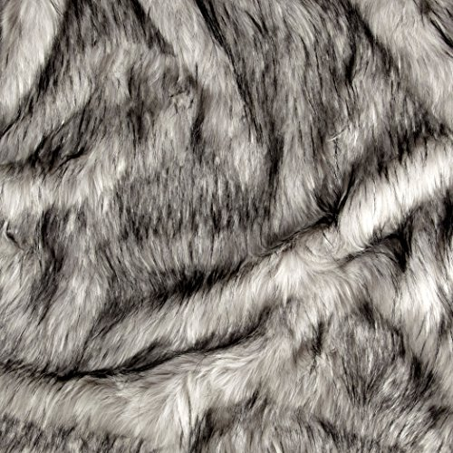Shannon Fabrics Shannon Norwegian Faux Fox Fur Steel Fabric by The ()
