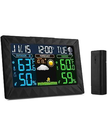 iLifeSmart Estación Meteorológica Inalámbrica con Sensor de Interior/exterior,Reloj, Fecha, Alarma