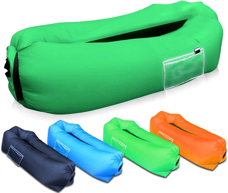 Poltrona Gonfiabile Gonfiabile Wateralone Beanless Bag per Il Tempo Libero Blu per Adulti e Bambini per la casa