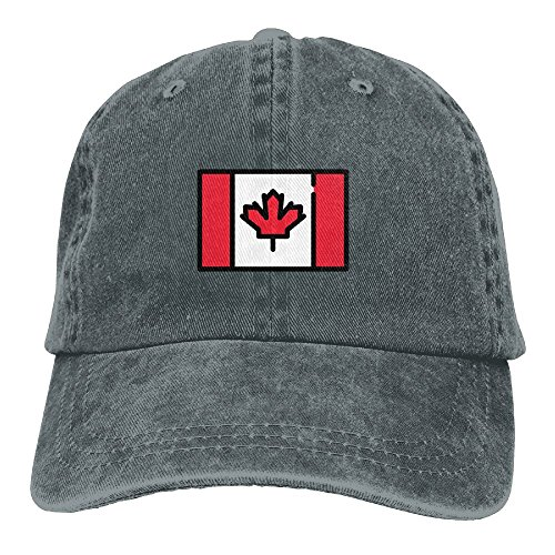 Adult Canada Flag Sports Adjustable Structured Baseball Cowboy Hat