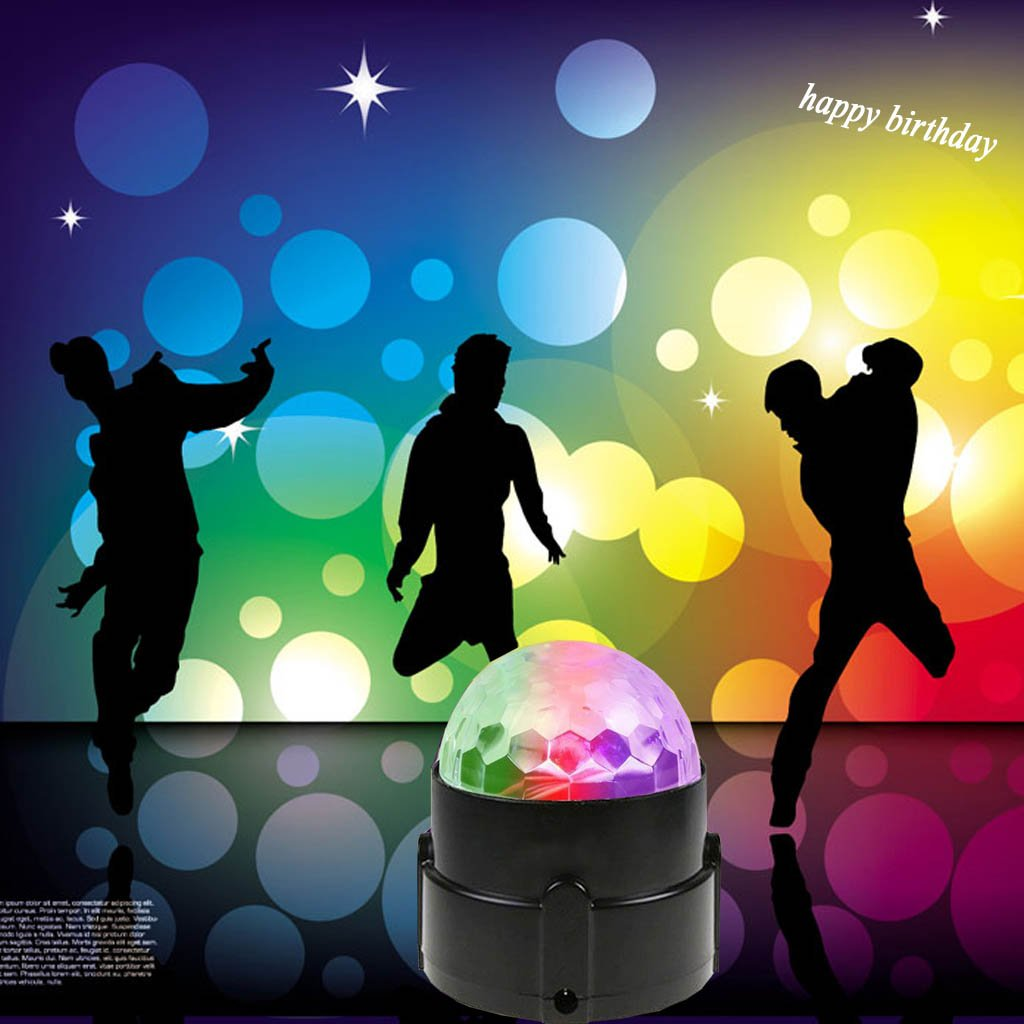 Disco Ball Strobe Light Party Lights Disco Lights Karaoke Machine 3W Dj Light LED Portable 7Colors Sound Activated Stage Lights for Festival Bar Club Party Outdoor and More (with Remote) by bestcan (Image #3)