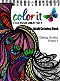 ColorIt - Calming Doodles: Relaxation Coloring Book with Zentangle Designs For Adults