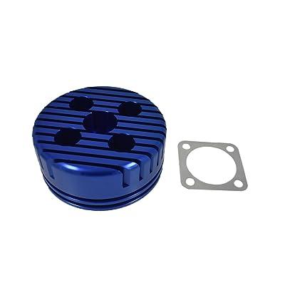 JRL CNC Cylinder Head for Racing 66cc/80cc Engine (Blue): Automotive