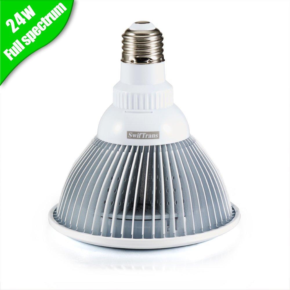 Amazon.com : Swiftrans LED Grow Light Bulb, 24w Plant Grow Light ...