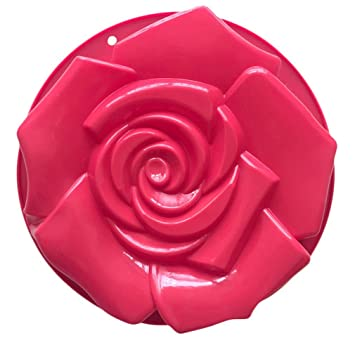 infaye cumpleaños Cake Pan Tart lata de flan molde de silicona moldes Big Rose: Amazon.es: Hogar