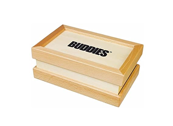 Buddies Wooden Pollen Sifter Storage Box Small