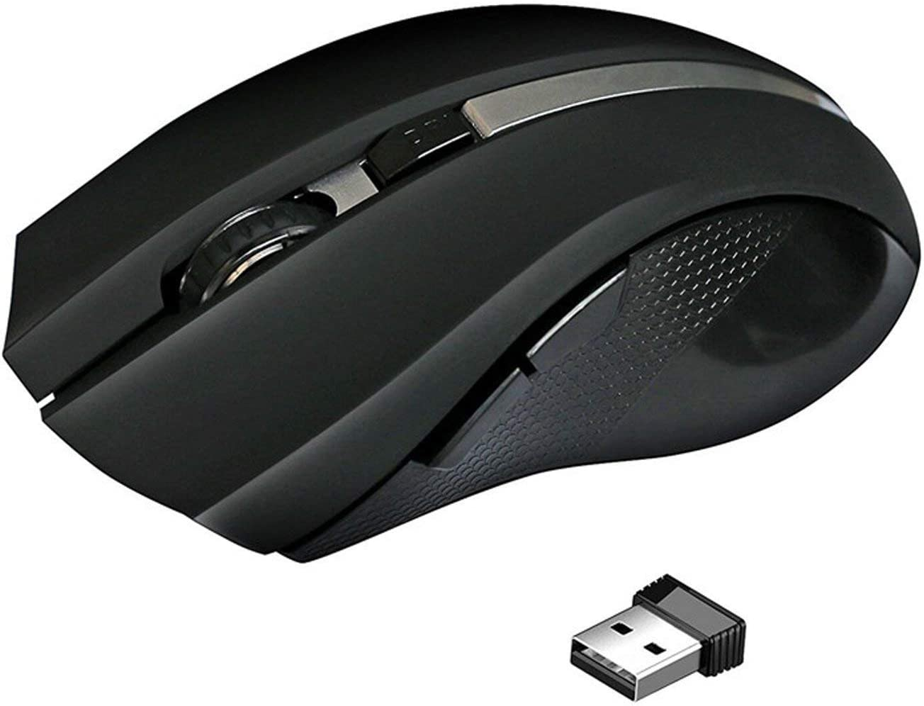 XBOSS L7 Bluetooth Wireless Optical Gaming 6 Button Mouse for Computer PC Mice with USB Adapter Mause for OS Windows Mac Linux Ps2 Ps3 pS4 Game Mouse Wireless(Black)