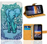 Vodafone Smart 4 Mini Case, FoneExpert® Premium Leather Flip Wallet Bag Case Cover For Vodafone Smart 4 Mini