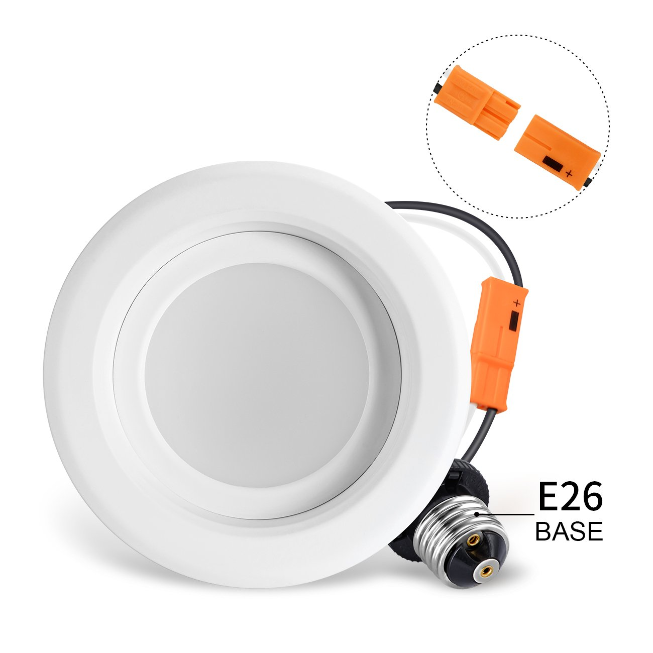 LVWIT LED 4'' Retrofit Dimmable Downlight 5000K Daylight 750 Lumens, Equivalent 65W, 5 Year Warranty(4 Pack) by LVWIT (Image #5)