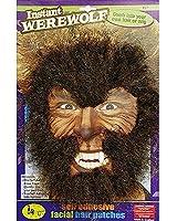Instant Werewolf Facial Hair Kit Fancy Dress