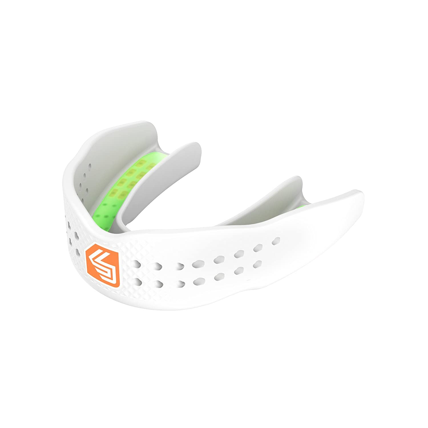 Shock Doctor 9393A Superfit Basketball Flavor Fusion Strapless Mouth Guard, Adult, Limtensity