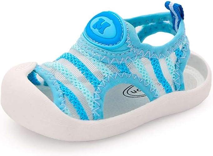 Baby Boys Girls Sports Sandals Lightweight Anti-Slip Rubber Sole Beach Aquatic Water Shoes Summer Toddler First Walking Shoe