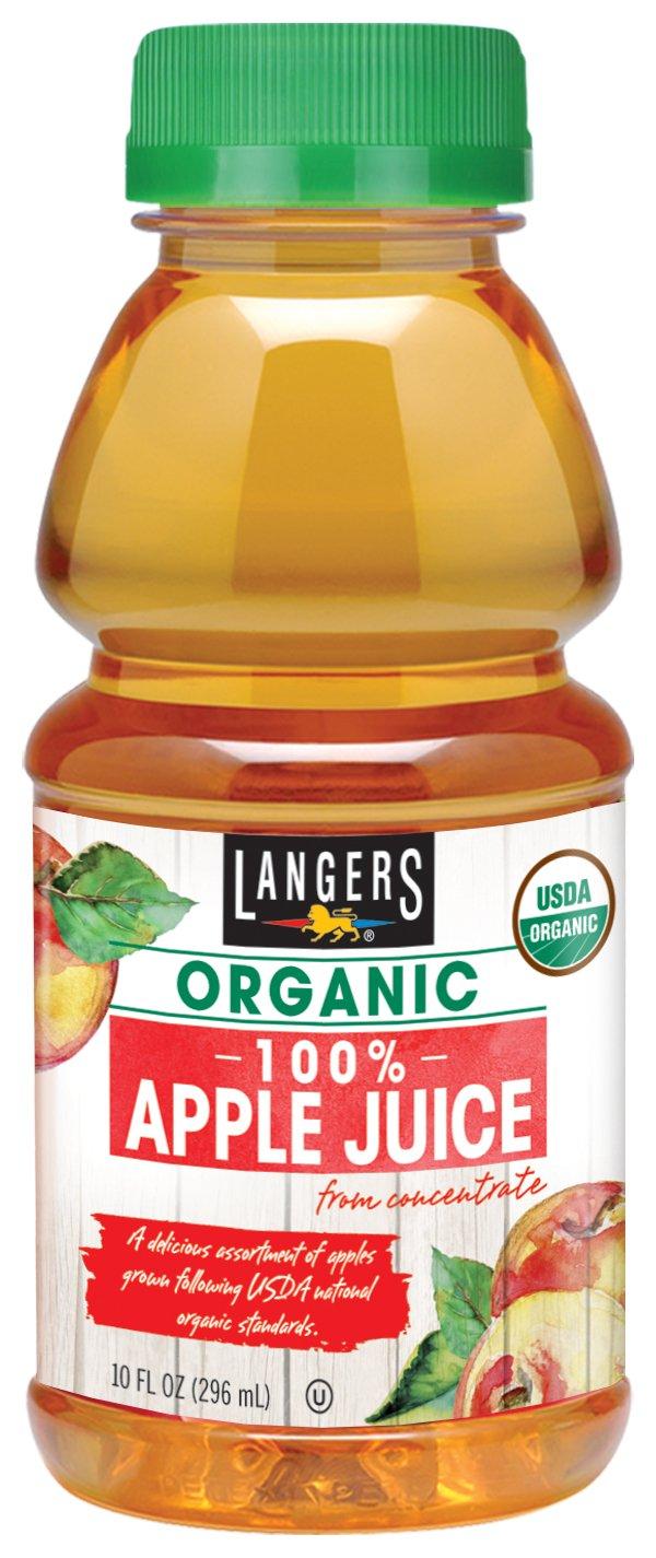 Langers Organic 100% Apple Juice, 10 Fluid Ounce (pack Of 12)